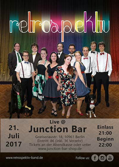 Flyer retrospektiv live Junction Bar 2017