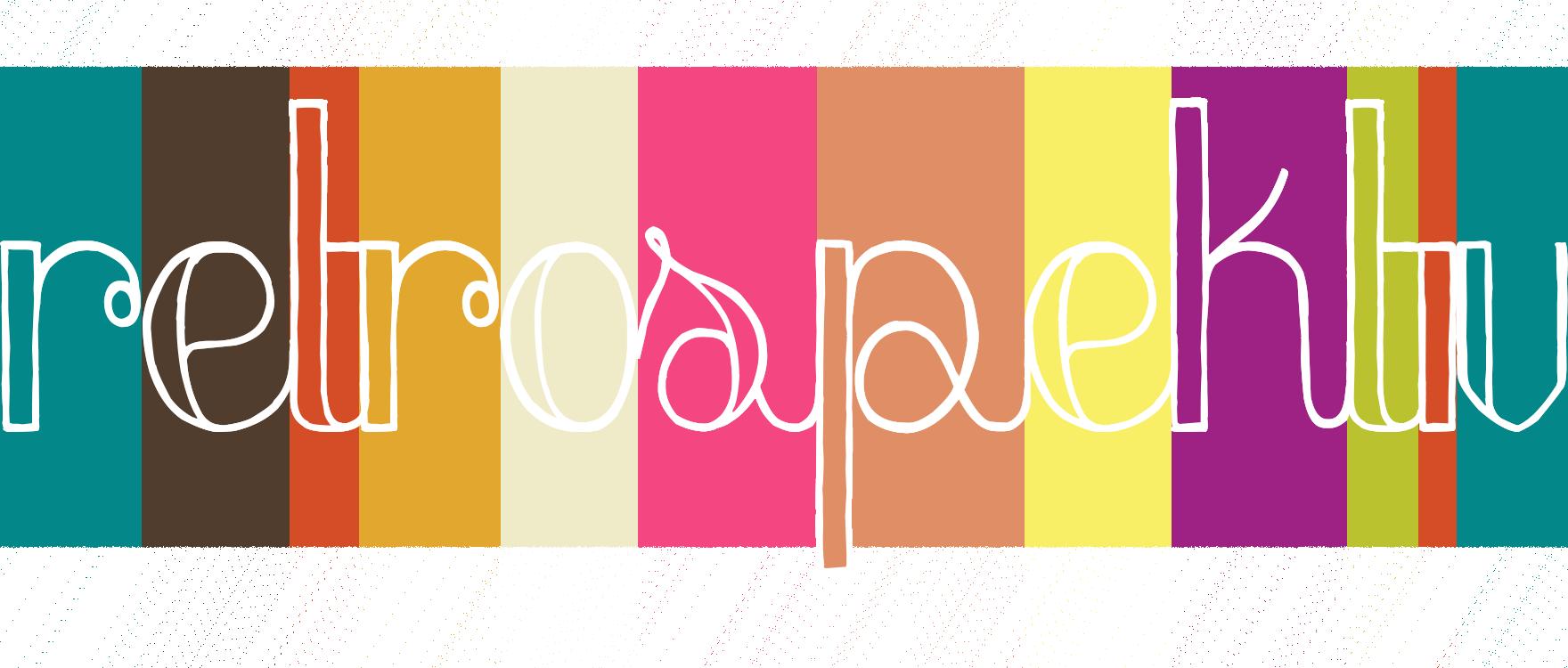retrospektiv Logo Schriftzug weiß